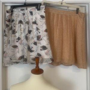 2 old Navy Skirts Size L. Sheer w full skirt
